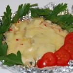Язык запеченый в сливочном соусе
